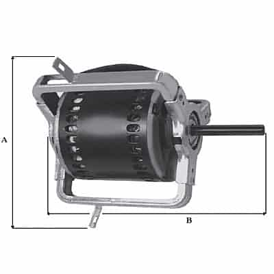 motori per ventilatori senza bracci e con bracci serie DD originali NICOTRA